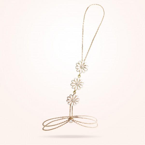 MARVVA - 10.5mm Daisy Elegance Shahmiran, Diamond, Rose Gold 18K
