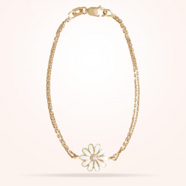 MARVVA - 10.5mm Daisy Junior Classic Bracelet, Diamond, Rose Gold 18K