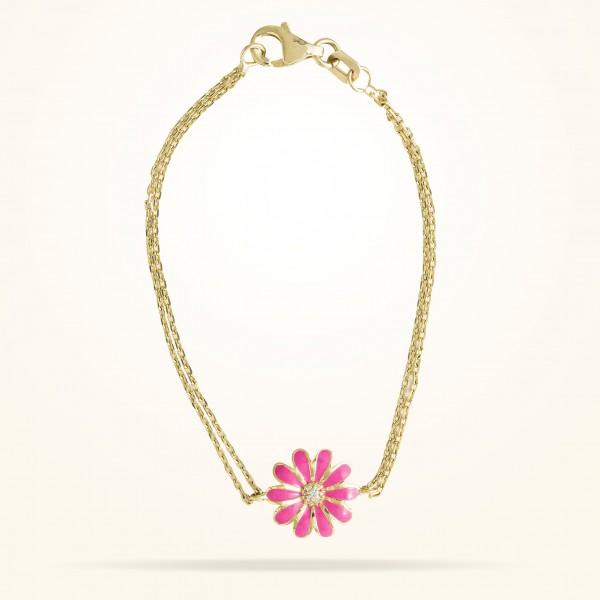 MARVVA - 10.5mm Daisy Junior Classic Bracelet, Diamond, Yellow Gold