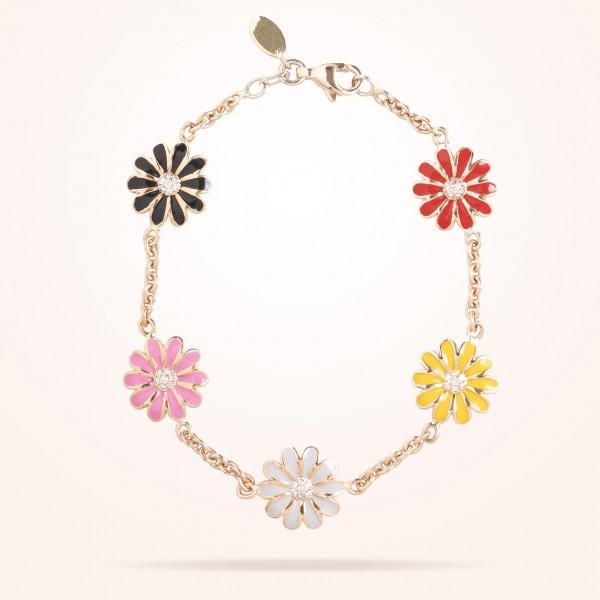 MARVVA - 10.5mm Daisy Junior Les Jardins Bracelet, Diamond, Rose Gold 18K