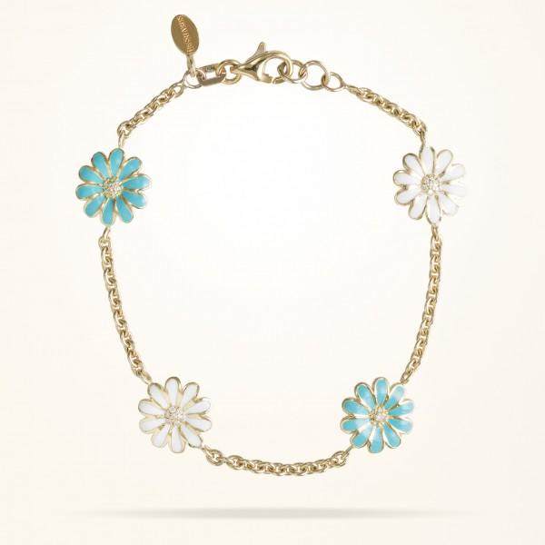 MARVVA - 10.5mm Daisy Junior Les Jardins Bracelet, Diamond, Yellow Gold 18K