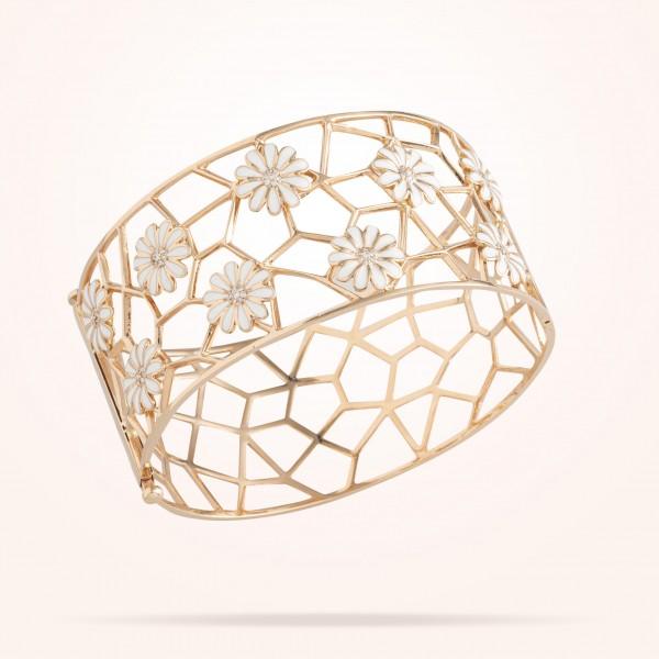 MARVVA - 10.5mm Daisy Les Jardins Bangle, Diamond, Rose Gold 18K