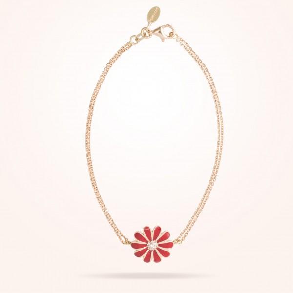 MARVVA - 13mm Daisy Classic Bracelet, Diamond, Rose Gold 18K