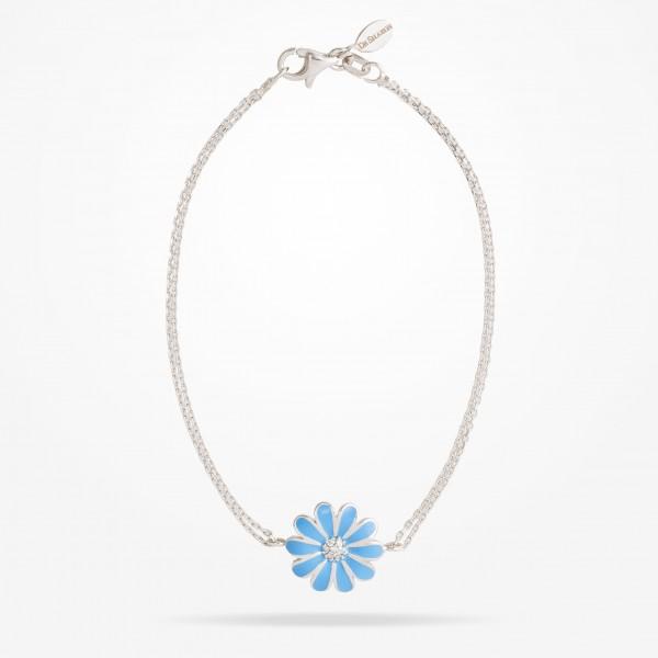 MARVVA - 13mm Daisy Classic Bracelet, Diamond, White Gold 18K