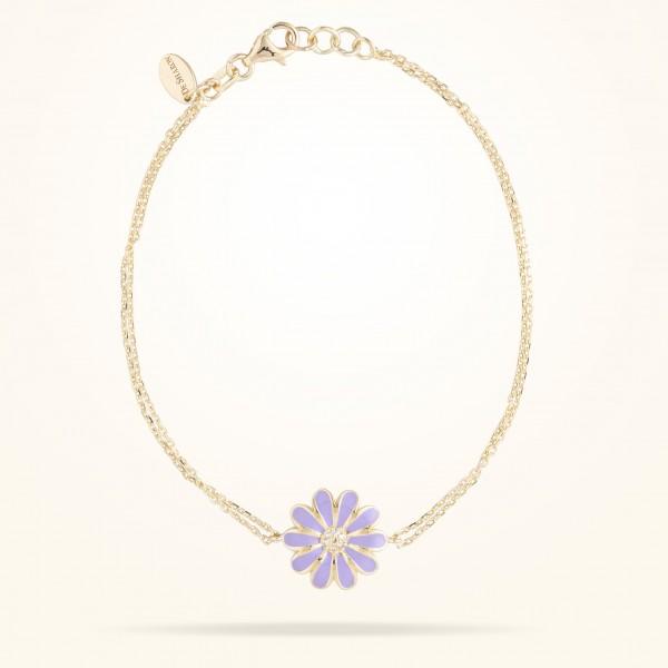 MARVVA - 13mm Daisy Classic Bracelet, Diamond, Yellow Gold 18K