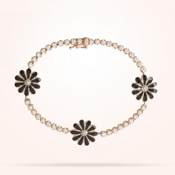 MARVVA - 13mm Daisy Elegance Bracelet, Diamond, Rose Gold 18K