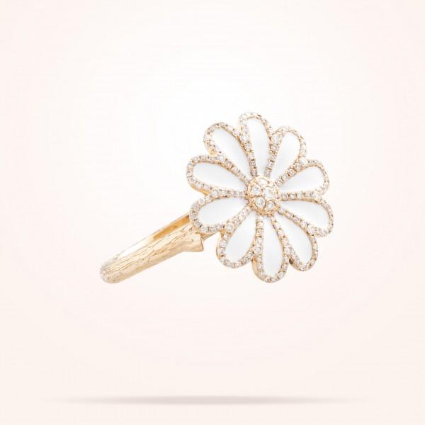 MARVVA - 17.15mm Daisy Elegance Ring, Diamond, Rose Gold 18K