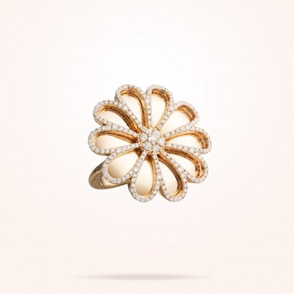 MARVVA - 28.5 Daisy Reflection Ring, Diamond, Rose Gold 18K