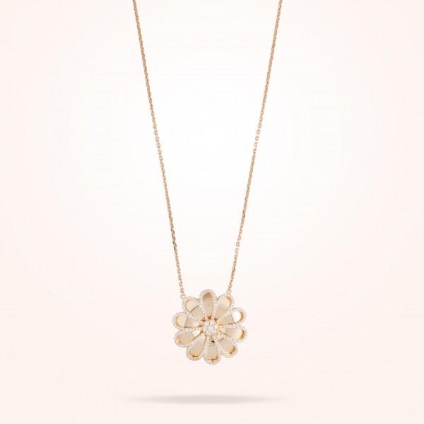 MARVVA - 28.5mm Daisy Reflection Pendent, Diamond, Rose Gold 18K