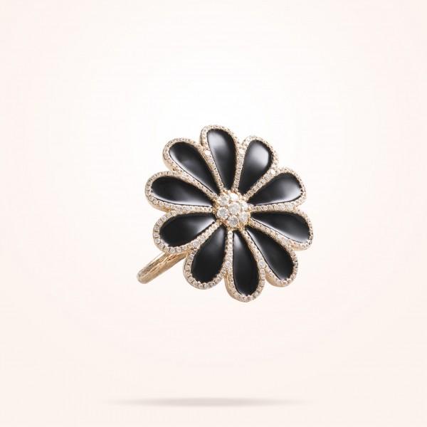 MARVVA - 28.5mm Daisy Elegance Ring, Diamond, Rose Gold 18K