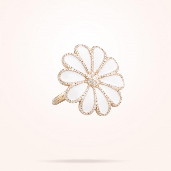 MARVVA - 28.5mm Daisy Elegance Ring, Diamond, Rose Gold