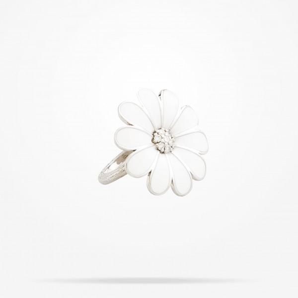 MARVVA - 27mm Daisy Classic Ring, Diamond, White Gold 18K
