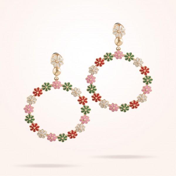 MARVVA - 4.4mm Daisy Bouquet Earrings, Rose Gold 18K