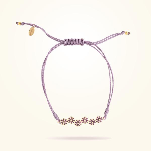 MARVVA - 6mm Daisy Urban Bracelet, Rose Gold 18K