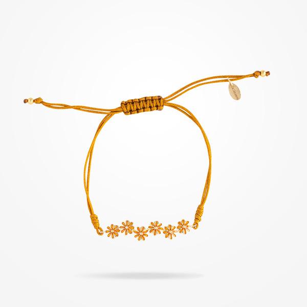 MARVVA - 6mm Daisy Junior Urban Bracelet, Yellow Gold 18K