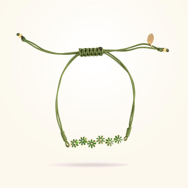 MARVVA - 6mm Daisy Urban Bracelet, Yellow Gold 18K