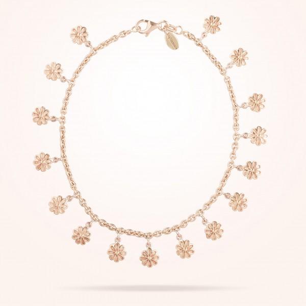 MARVVA - 6mm Daisy Bouquet Bracelet, Rose Gold 18K
