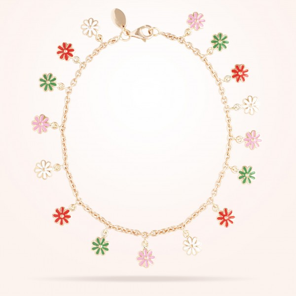 MARVVA - 6mm Daisy Bouquet Bracelet, Rose Gold