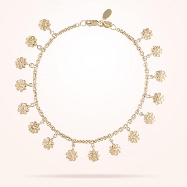 MARVVA - 6mm Daisy Bouquet Bracelet, Yellow Gold 18K
