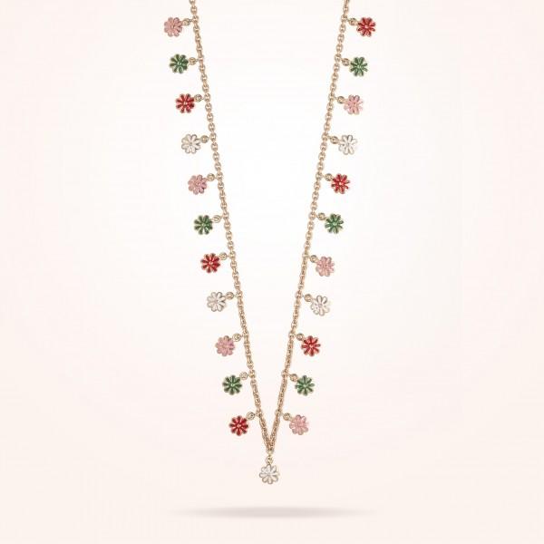 MARVVA - 6mm Daisy Bouquet Necklace, Rose Gold 18K