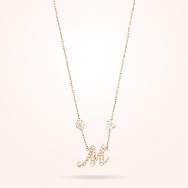 MARVVA - 6mm Daisy Personalised Pendent, Diamond, Rose Gold 18K